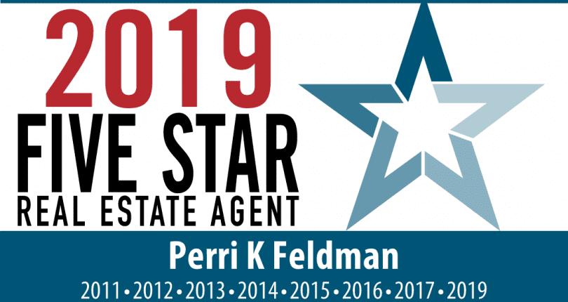 Perri K Feldman Named 2019 NJ Five Star Real Estate Professional